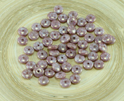 60pcs Purple Brown Senegal Terracotta Czech Glass Disc Beads Solo Flat Disk Spacer One Hole 6mm