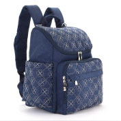LCY Unisex Stylish Multifunction Backpack Baby Nappy Changing Bag Backpack With Stroller Straps & Changing Pad - Navy
