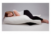 Natalia Spzoo body pillow maternity cushion body support bolster bamboo case with zipp