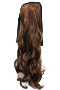 PRETTYSHOP 60cm Hair Piece Clip on Ponytail Extension Long Wavy Heat-Resisting HC27-1