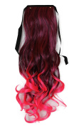 PRETTYSHOP 60cm Hair Piece Clip on Ponytail Extension Long Wavy Heat-Resisting HCB3-1