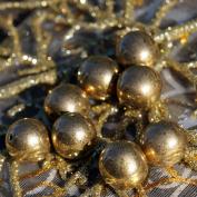 8pcs Large Metallic Aged Dark Gold Czech Glass Round Beads 12mm