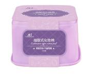 Lotion Removing Nail Polish Makeup Cotton Pads 300pcs in Purple Box
