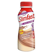 SlimFast Cookie and Cream Shake Multipack Bottle, 325 ml - Pack of 6
