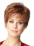 Female Short Hair Fluffy Hair Wig Tonake Stylish Able Brown Hair Oblique Bang Heat Resistant Wigs Women Lady