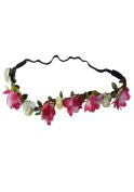 WTB Women's Girls Flower Fairy Bohemian Braid Wedding Beach Tiara Crown hair headband