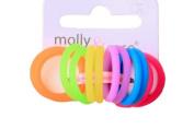 Silicone Non Slip card of 12 Small 2mm Bright Coloured Elastics