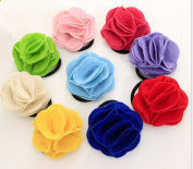 Cuhair(tm) 10pcs cute pretty clothes rose flower girl kid Elastic Hair Bands tie rubber Rope Ponytail Holder Hair Accessories Scrunchie