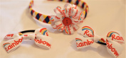 Rainbow Guides uniform set with hairband additional 2 hair bow bobbles. Hair accessories for uniforms