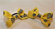 Pair of Brownies uniform hair bobbles Yellow. Hair accessories.