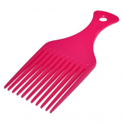 Afro Hair Comb Fuchsia Pink Teeth Hairdressing