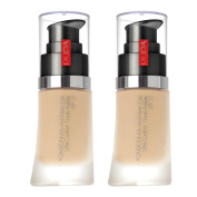 2 x PUPA Milano No Transfer Foundation with SPF 15 - 30ml / 1.01 fl oz