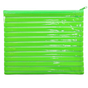 Large Glossy Green PVC Pencil Case Wash/Make Up Bag
