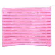 Large Glossy Baby Pink PVC Pencil Case Wash/Make Up Bag