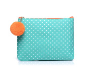 Stylish Make-Up Bag Vintage Print Pouch Cosmetic Toiletry Bag Gifts Pom Poms