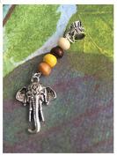 Tibetan silver AFRICAN ELEPHANT Dread Dreadlock Beads Boho Bohemian hippy Hair Charm