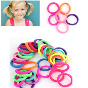 Gemini_mall® Pack of 50 Girl's Hair Bobbles Bands Mini Baby Ponytail Elastic Stretchy Hairband
