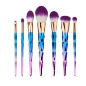 Make Up Brushes Vishine 7PCS/Set Makeup Brush Set Tools Powder Foundation Eyshadow Makeup Cosmetics Blusher Powder Blending Cosmetic Brush Set Kit