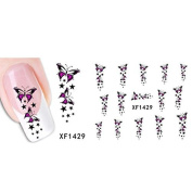 GODHL Women's DIY Nail Sticker Water Transfer Stickers Finger Nail Art Decals