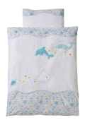 Easy Baby 815-44 - Baby Duvet Set 80 x 80 cm, Sea Life
