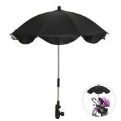 Baby Stroller Umbrella Pram Pushchair Parasol Baby Canopy Sun Rain Protection Sunshade Black