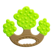 Mombella Apple Tree Teether, Food Grade Soft Silicone Teething Toy for Babies 3M+, 3 Colours Available