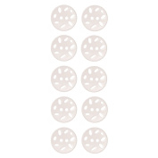 Pearlized Finish Button 2 Hole Perforated Oval Shape Design 24 Line Pearl