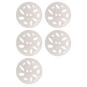 Pearlized Finish Button 2 Hole Perforated Oval Shape Design 54 Line Pearl