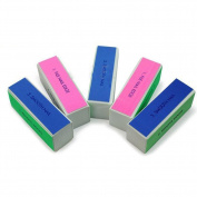Gemini_mall® 5 x Nail Art Tips 4-Way Buffer Buffing Sanding Block Files Manicure Tool