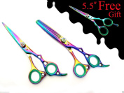 Extreme Sharp Professional Hairdressing Hair Cutting Scissors Thinner Shears Set 15cm + Free Gift Shears