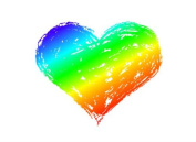 "Gay Pride Rainbow Heart Temporary Tattoo, LGBT Tattoo, Pride Tattoo, Set of 2 – 1 ½"" x 1 ½"""