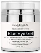 Baebody Blue Eye Gel for Dark Circles & Wrinkles - w Mediterranean Blue Algae Extract - Intensive Eye Gel for Under and Around Eyes - 30ml