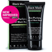 SHILLS New & Improved Formula With Activated Charcoal Deep Cleansing Purifying Peel-Off Black Face Mask,, Natural, Oil-Control, Blackhead Removing