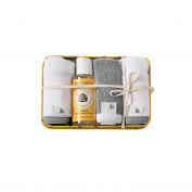 Burt's Bees Baby Organic Washtime Gift Tin, Heather Grey