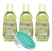 Baby Magic Mennen Cologne - Colonia Mennen Para Bebe, 200 ml (3Pack) with Baby Massage Brush