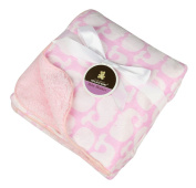 Baby Plush Throw Blanket Sherpa Fleece 100cm x 70cm