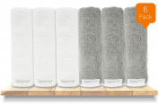 Premium Organic Baby Bath Washcloths, 100% NaturaSoft Bamboo (SOFTER Than Cotton), Hypoallergenic Bath Towels For Newborn Babies, Toddler, Boys & Girls
