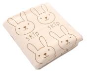 StylesILove Baby Soft Skip Rabbit Print Feeding Burp Cloth Washcloth Bath Towel