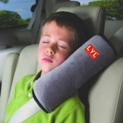 Cindy & Will 2Pcs Comfortable Duplex Suede Nap Children/Kids Travelling Pillow/Seat Belt Pillow/Shoulder Pad Booster/Car Seat Pillow
