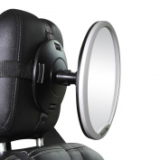 J is for Jeep Oval Rear Facing View Infant Baby Mirror for Car Grey