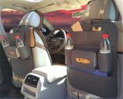 BININBOX Car Backseat Organiser Felt Pocket Protector Kick Mat Auto For Baby Kids Travel Accessories Toy Bottle Storage