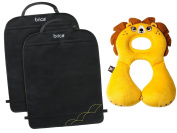 BenBat Travel Friends Head & Neck Support with Backseat Kick Mats, 1-4 Years, Lion