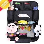 Premium Car Back Seat Organiser for Kids Protector Durable Soft Material Backseat Car Organiser with Tissue Holder & Large Mesh Pocket Tablet Holder, Toy Storage-42cm x 50cm