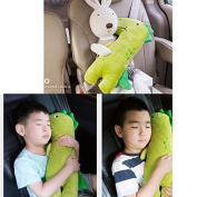 Cute Doll Car Seat Strap Belt Cushion Cover for Kids Children, Adjustable Pillow Pad Vehicle Car Safety Belt Toy Pet Protect Shoulder Chest Child