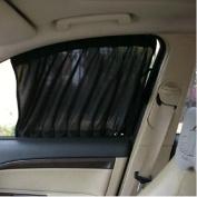 Car Window Curtain - Sandistore 2X Car Sun Shade Side nylon Mesh Window Curtain Foldable Sunshade UV Protection