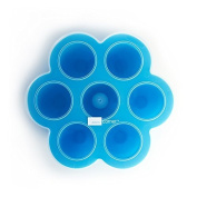 Domestic Corner - Silicone Baby Food Divider with Lid - Blue