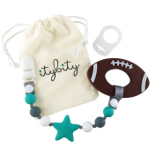 Football Baby Teething Toys with Pacifier Clip Teether, Baby Gift Set