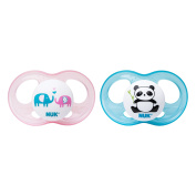 NUK Breeze 2 Piece Orthodontic Pacifier, Girl, 0-6 Months