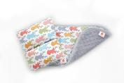 Comfy Cradle/Burp Cloth Set, Forest/ Grey