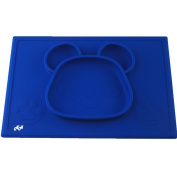 Silicone Placemat for Babies, Toddlers, Kids – Adorable Panda Bear Design, One Piece Placemats for Kids, Three Colours Available